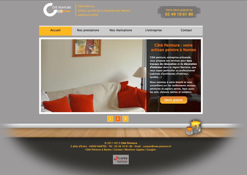 Webdesign : Côté Peinture