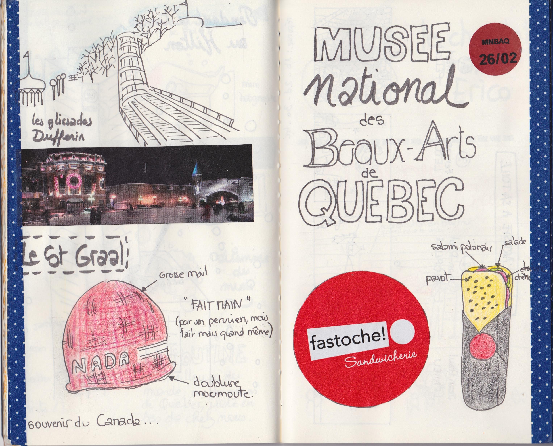 Sketchbook : voyage au Québec 2014